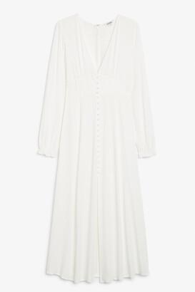 Monki Long-sleeve maxi dress