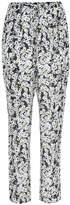 See by Chloe Floral-printed silk-blend trousers