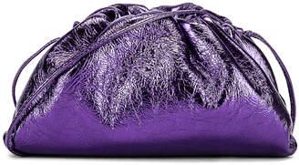 Bottega Veneta Wrinkled The Pouch 20 Clutch Bag in Viola & Silver | FWRD