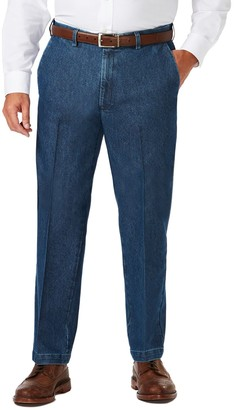 Haggar Big & Tall Classic-Fit Expandable-Waist Stretch Jeans