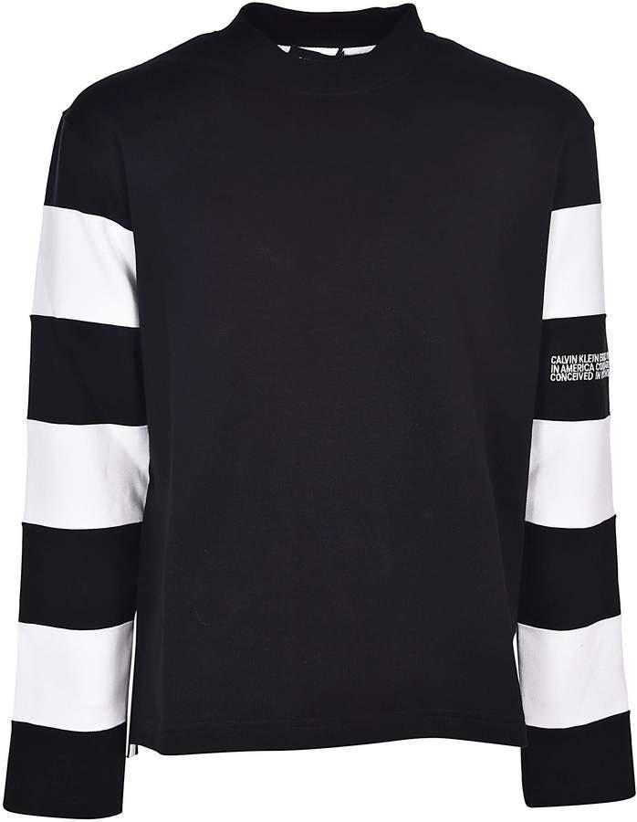 Calvin Klein Striped Sleeves Sweatshirt