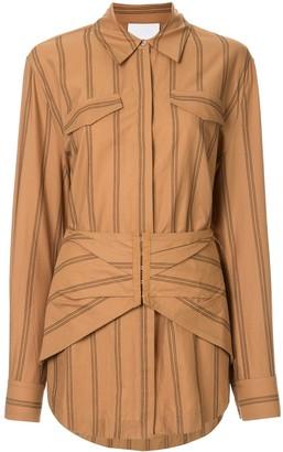 Acler Logan striped corset-waist shirt