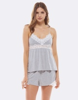 Deshabille Essential Cami & Shorts Gift Set Grey Marle