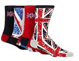 Red Herring Pack Of Four Red 'union Jack' Socks