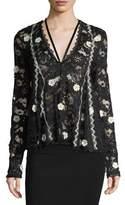 Alexis Cyndi V-Neck Semisheer Lace Top