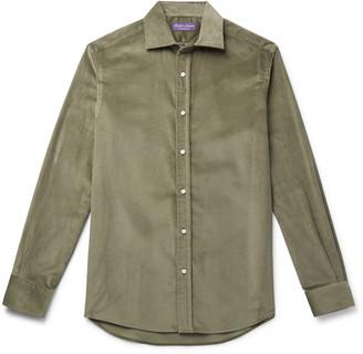 Ralph Lauren Purple Label Cotton And Cashmere-Blend Corduroy Shirt
