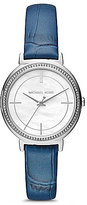 Michael Kors Cinthia Mother-of-Pearl Analog Leather-Strap Watch
