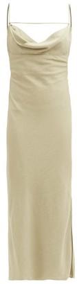 Jacquemus Cowl-neck Crepe Midi Dress - Light Green