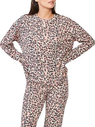 Monrow Animal Print Sweatshirt