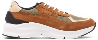Paul Smith Explorer Suede, Mesh And Leather Trainers - Mens - Tan