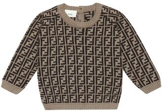 Fendi Kids Baby FF-jacquard sweater