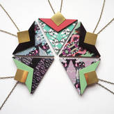 Mica Peet Statement Geometric Triangle Necklace