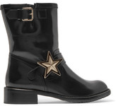 RED Valentino Embellished Leather Boots