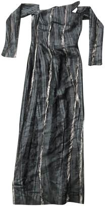 Emmanuelle Khanh Anthracite Velvet Dress for Women