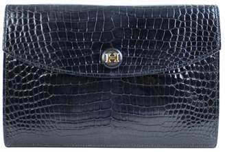 Hermes Black Crocodile Clutch bags