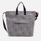Lulu Guinness Women's Stripe Canvas Romy Tote Bag Chalk/Red/Black