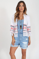 Goddis Poppy Fringe Cardigan In Brighton