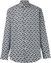 Salvatore Ferragamo motorcycle print shirt - men - Cotton - S
