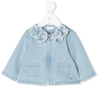 Il Gufo Floral Denim Jacket