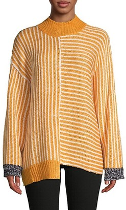 Avantlook Highneck Stripe Sweater
