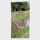 vanfan 11.8W x 27.5L Inches Custom Cotton Microfiber Ultra Soft Hand Towel Bamboo Bridge Crossing The Small River 293564951