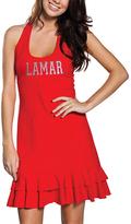 No Name Red Lamar Cardinals Ruffle Racerback Dress - Women