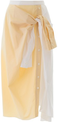 Marni Asymmetric Tie-Waist Midi Skirt