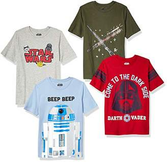 Star Wars Spotted Zebra by Big Boys' 4-Pack Short-Sleeve T-Shirts