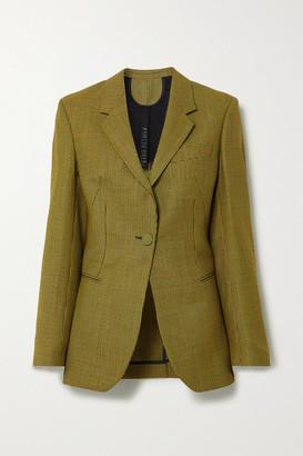 Petar Petrov Jaffa Houndstooth Wool And Mohair-blend Blazer - Yellow