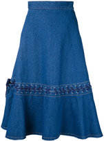 G.V.G.V. denim lace-up skirt