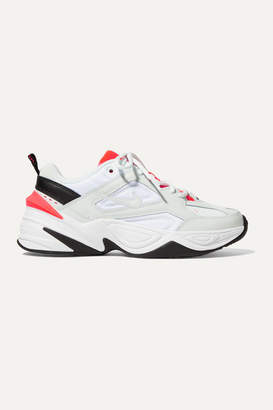 Nike M2k Tekno Leather And Mesh Sneakers - White