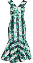 Johanna Ortiz Belice Printed Cotton-Blend Midi Dress