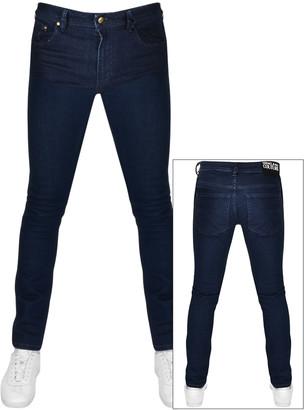 Versace Narrow Fit Jeans Blue