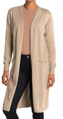 CENY Maxi Back Vent Cardigan Sweater