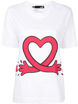 Love Moschino heart T-shirt - women - Cotton - 40
