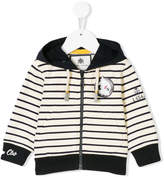 Lapin House striped zip-up hoodie