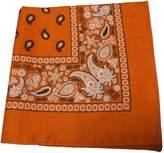 H2W Paisley Cotton Bandana Orange