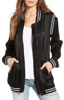 Blank NYC Women's Blanknyc Long Satin Bomber Jacket