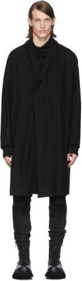 Julius SSENSE Exclusive Black Ring Soft Melton Coat