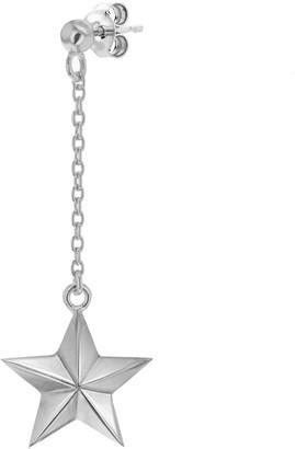 True Rocks Sterling Silver Star Drop Earring