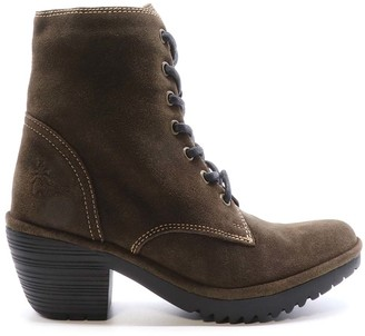 Fly London Women's Casual boots 002 - Brown Lace-Up Woke Leather Ankle Boot - Women