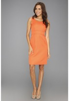 Tahari by Arthur S. Levine Tahari by ASL - Vinny Jacquard Dress (Orange) - Apparel