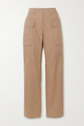 Loewe Herringbone Cotton Cargo Pants - Beige