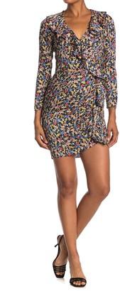Veronica Beard Minna Floral Ruffle Silk Blend Mini Dress