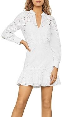 BCBGMAXAZRIA Cotton Eyelet Mini Dress