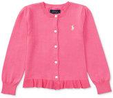 Ralph Lauren Ruffled Cardigan, Toddler & Little Girls (2T-6X)