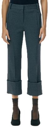 Tibi Stretch Corduroy Gingham Trousers