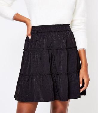 LOFT Heart Tiered Skirt