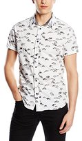 Pepe Jeans Men's HOLDEN Slim Fit Short Sleeve Casual Shirt