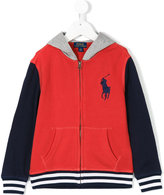 Ralph Lauren color block zip jacket